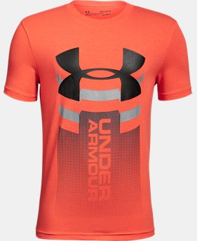 Boys' UA Vertical Logo T-Shirt LIMITED TIME: FREE U.S. SHIPPING 1  Color Available $20