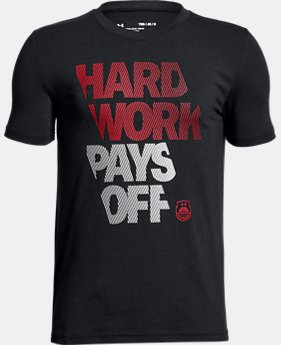 Boys' UA Hard Work T-Shirt  1 Color $20