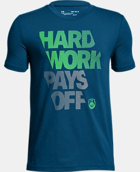 New to Outlet Boys' UA Hard Work T-Shirt  1  Color Available $15