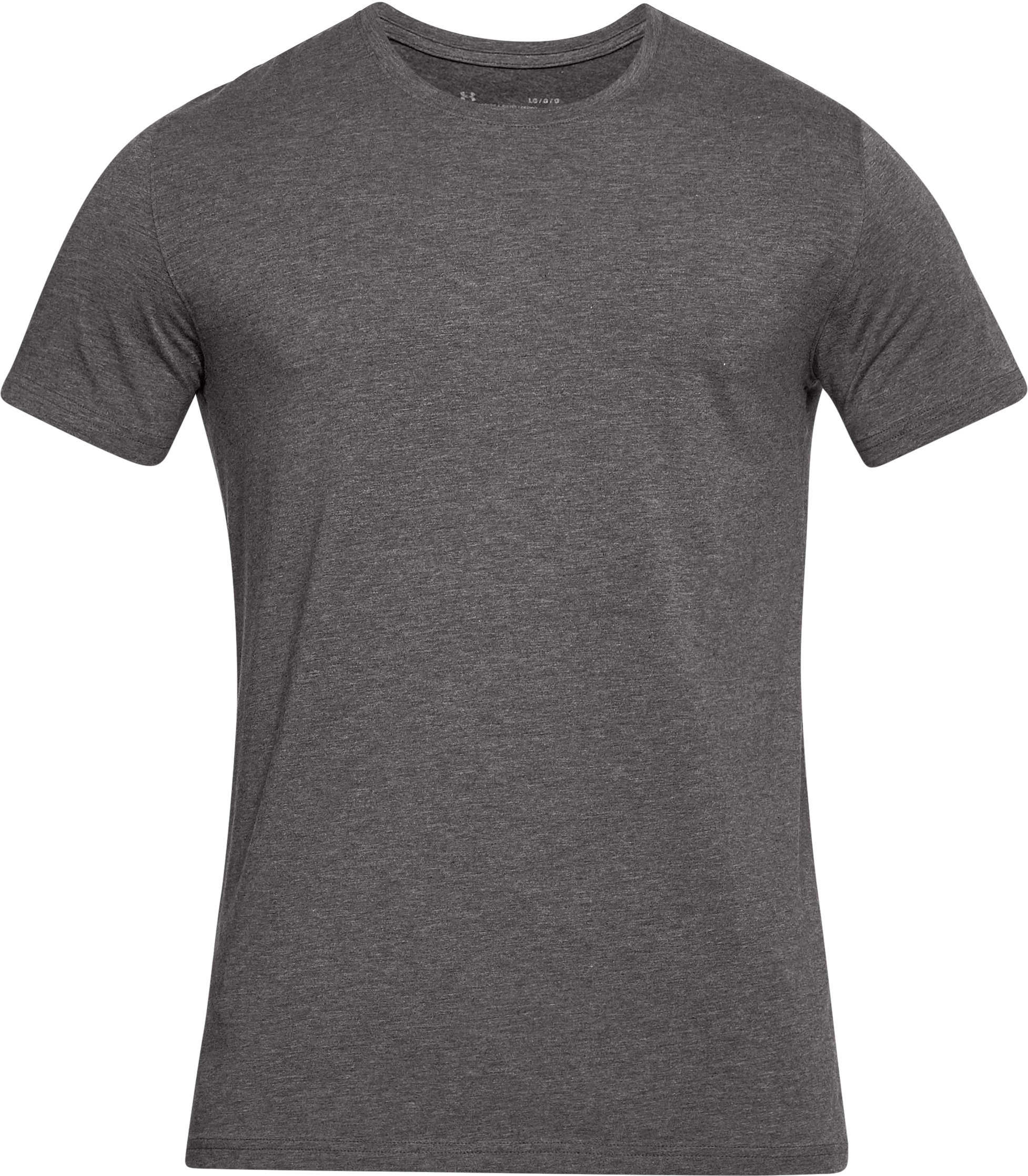 Men's Charged Cotton® Crew Under Shirt, CHARCOAL MEDIUM HEATHER, undefined