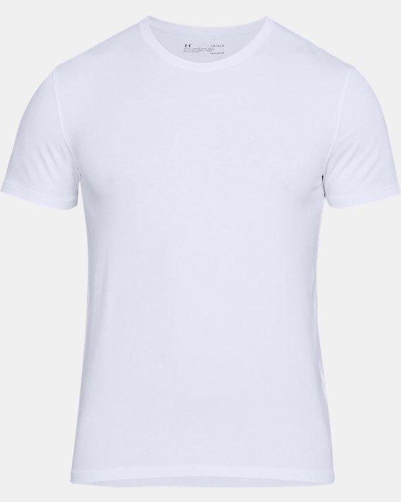 Men's Charged Cotton® Crew Undershirt, White, pdpMainDesktop image number 3