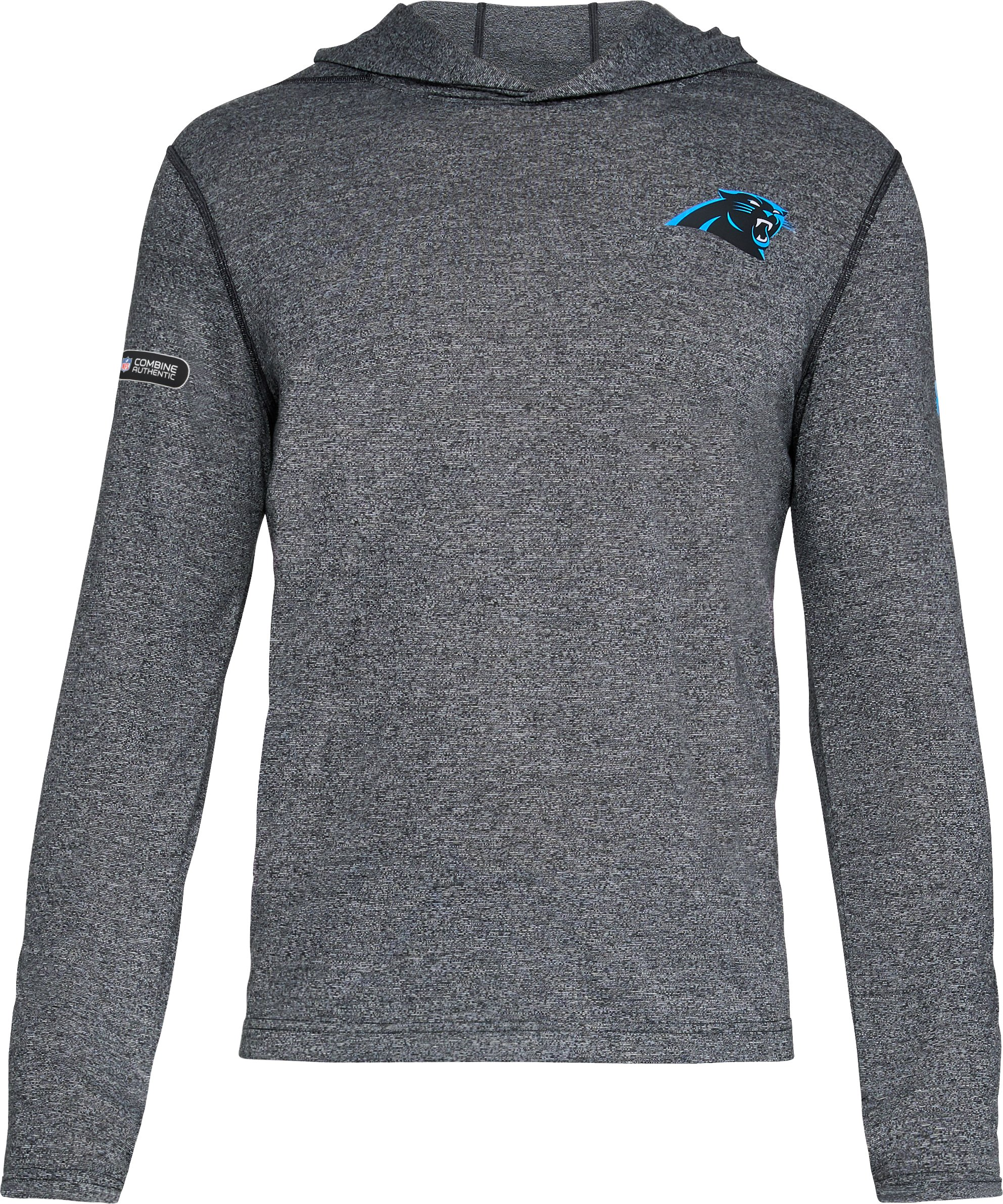Men's NFL Combine Authentic UA  Siro Popover Hoodie, NFL_Carolina Panthers_Black,