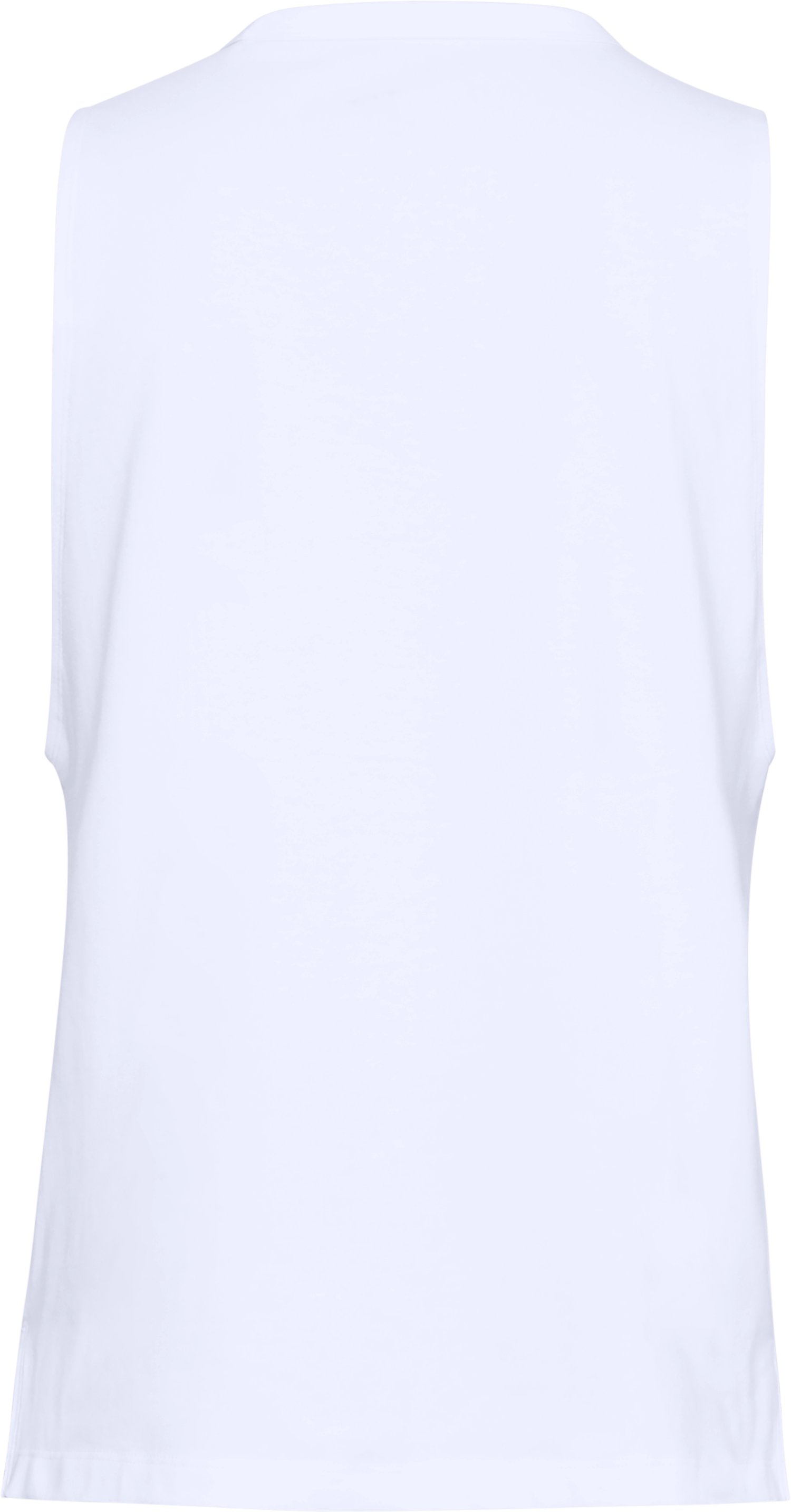 Women's UA Linear Wordmark Muscle Tank, White,