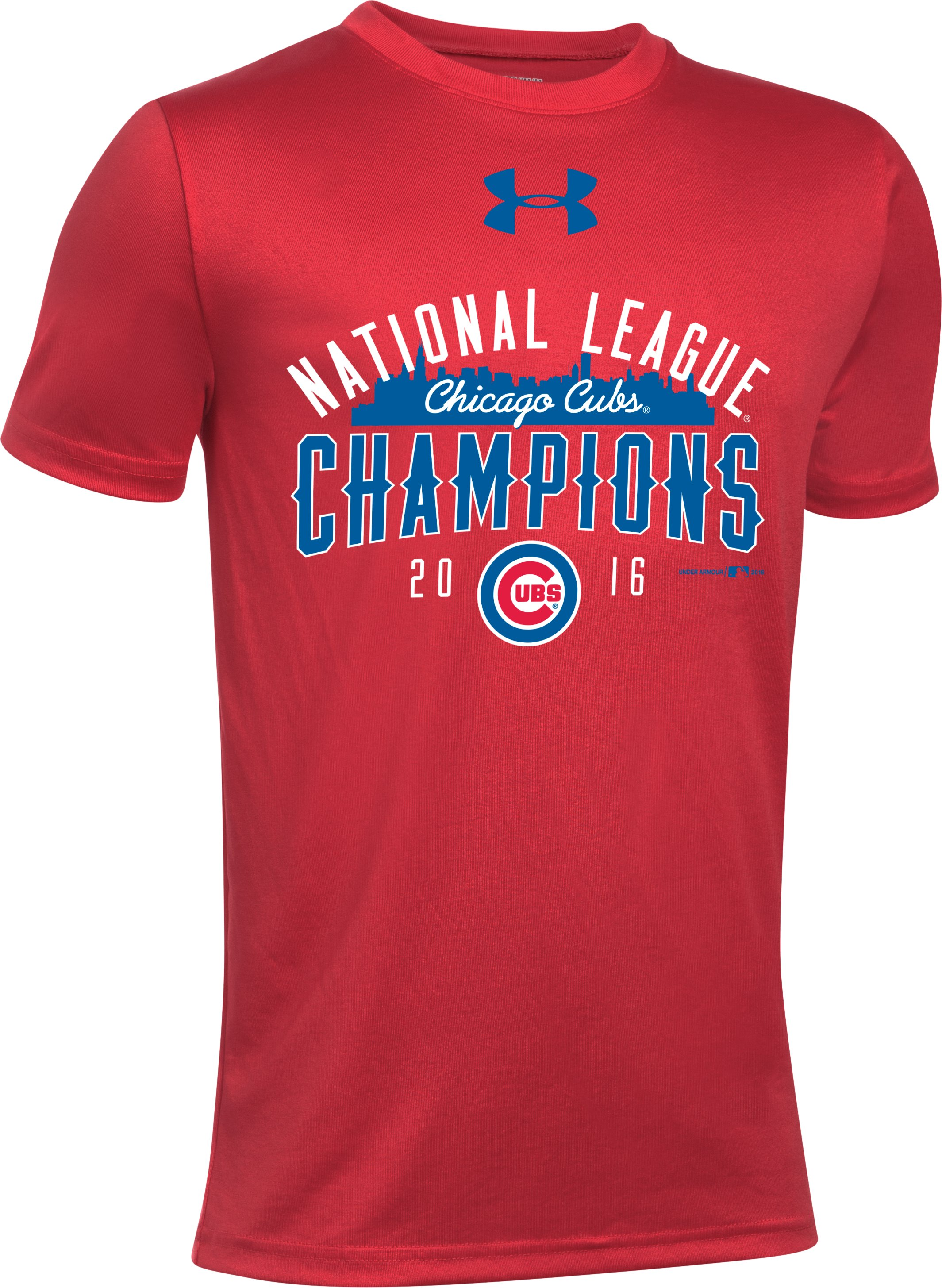 Kids' Chicago Cubs NL Champ T-Shirt , Red,