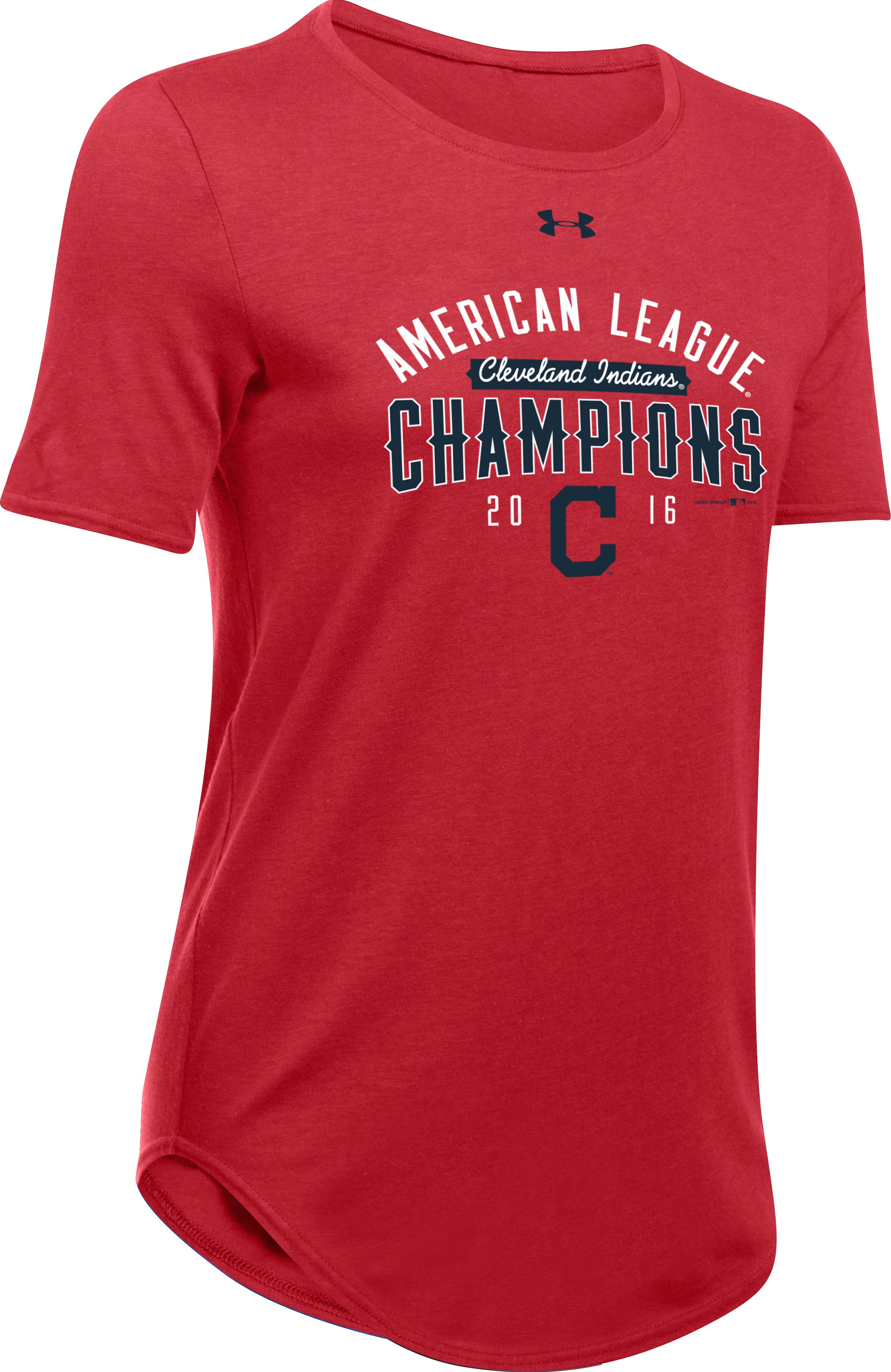Women's Cleveland Indians AL Champ T-Shirt , Red, undefined