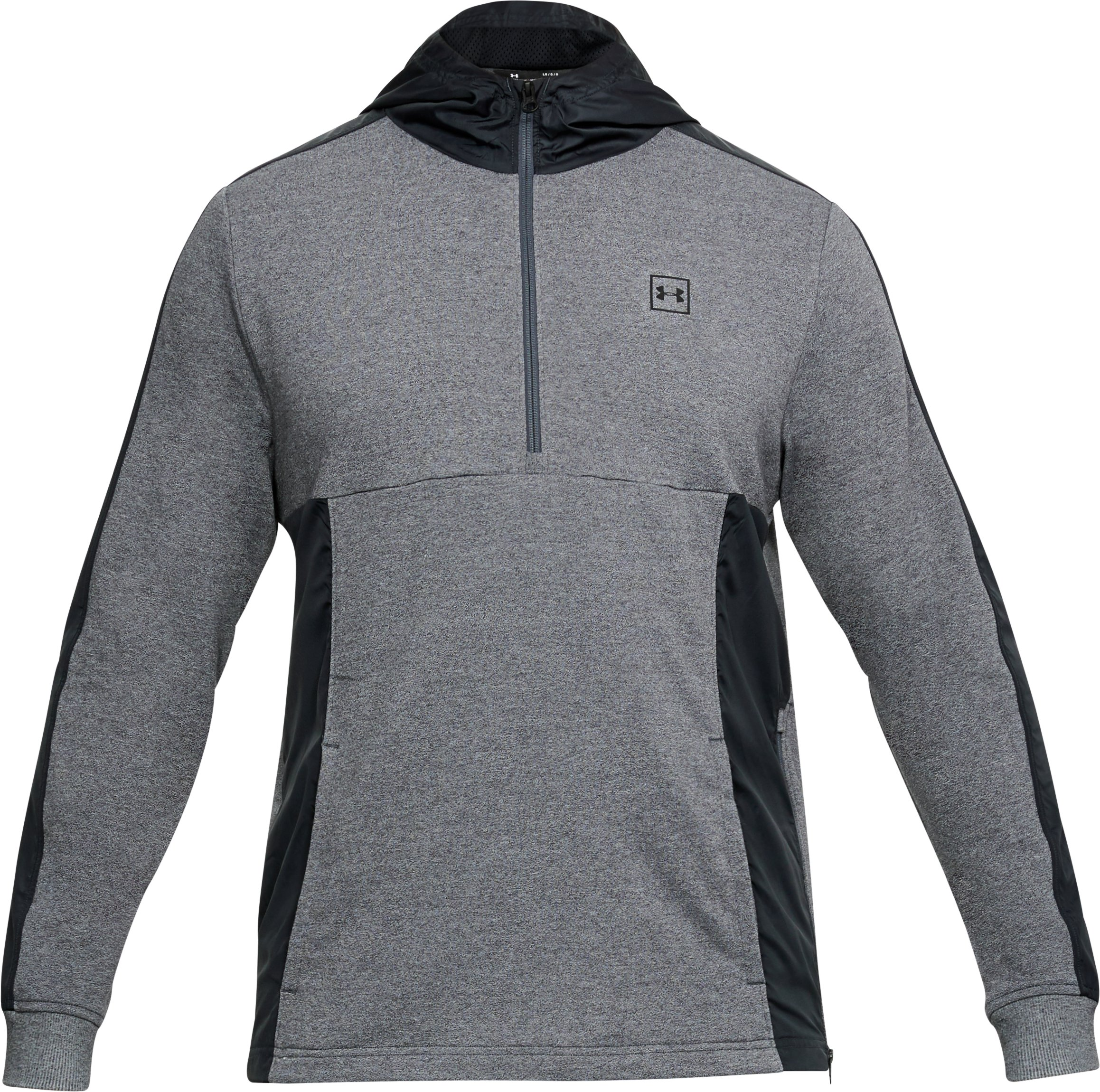 Men's UA Microthread Terry Hoodie, CHARCOAL MEDIUM HEATHER,