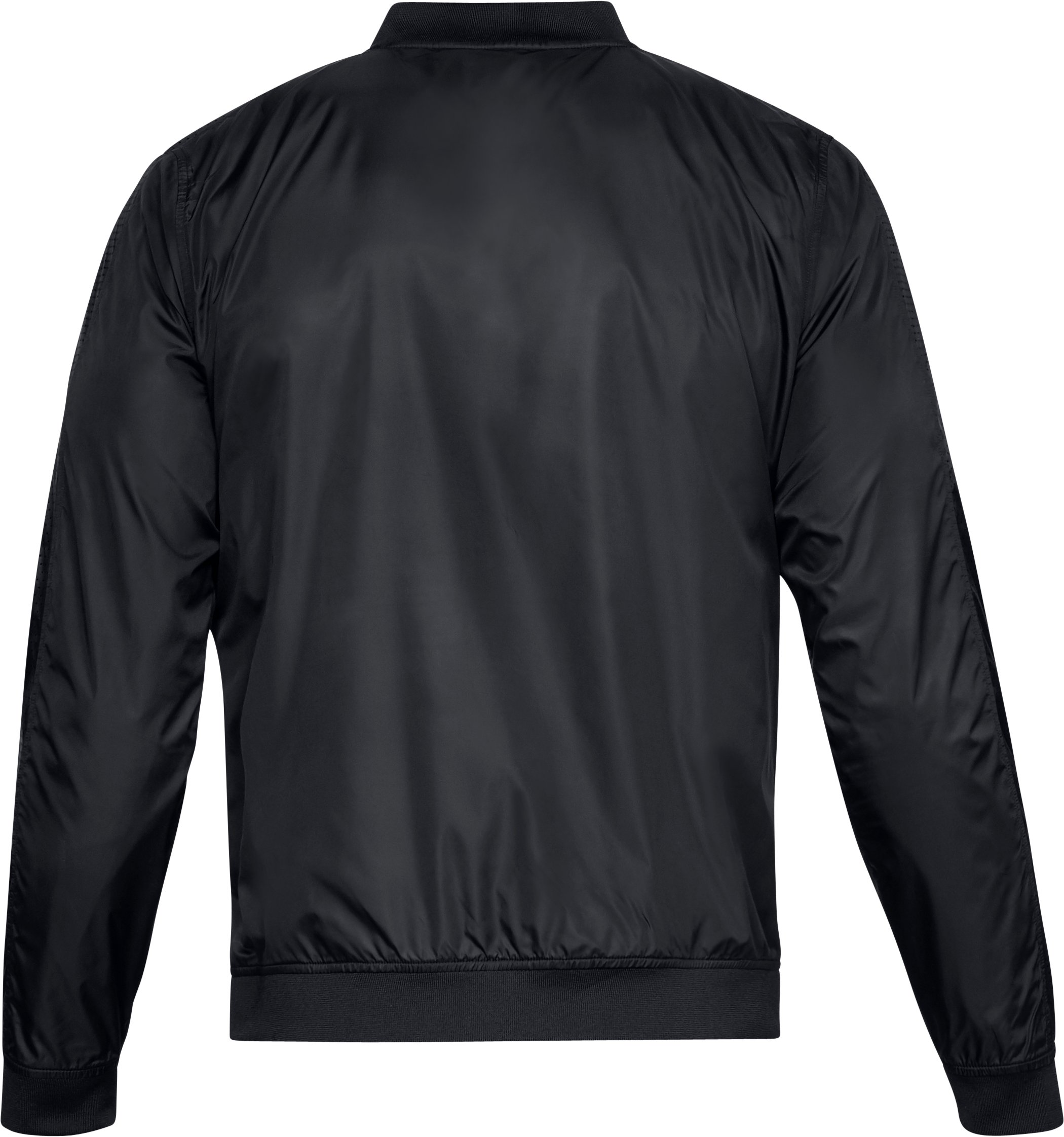 Men's UA Sportstyle Wind Bomber Jacket, Black ,