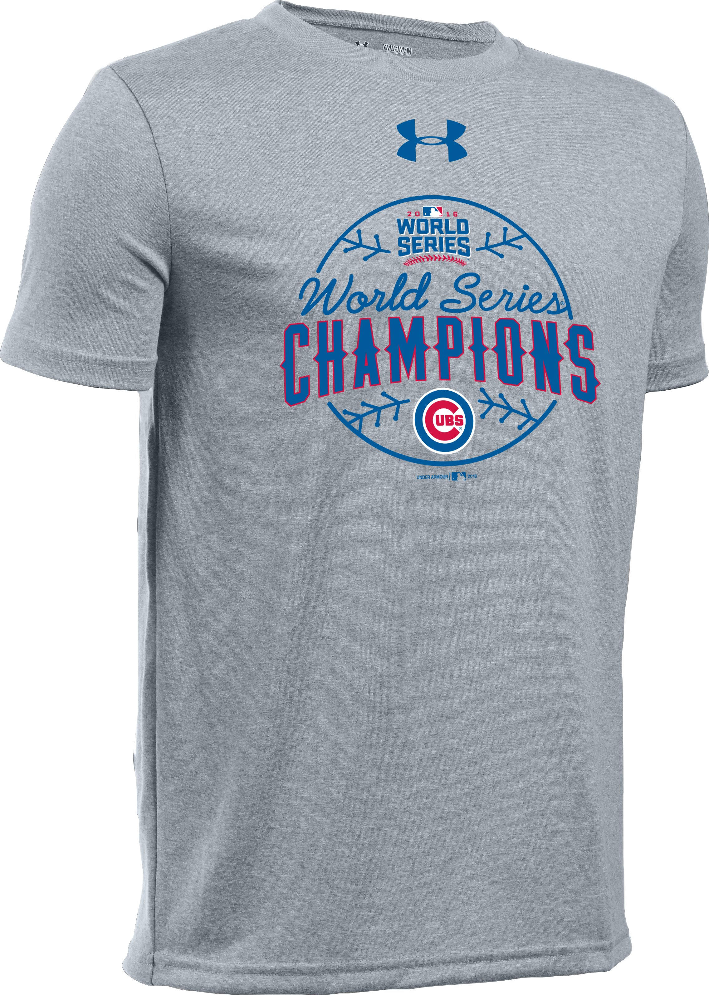 Kids' Chicago Cubs World Series Champ T-Shirt, True Gray Heather