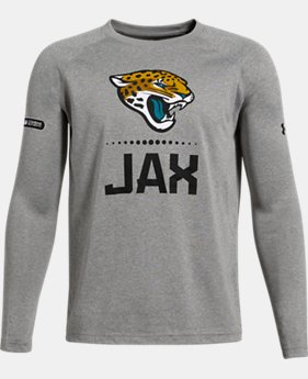 Boys' NFL Combine Authentic UA Tech™ Lockup Long Sleeve T-Shirt  1  Color Available $35