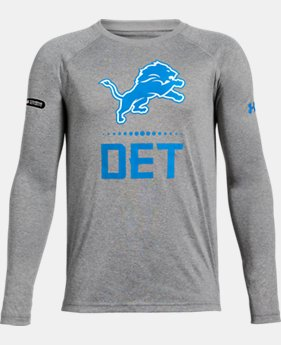 New Arrival Boys' NFL Combine Authentic UA Tech™ Lockup Long Sleeve T-Shirt  1  Color Available $35