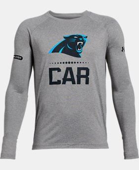 New Arrival Boys' NFL Combine Authentic UA Tech™ Lockup Long Sleeve T-Shirt   $35