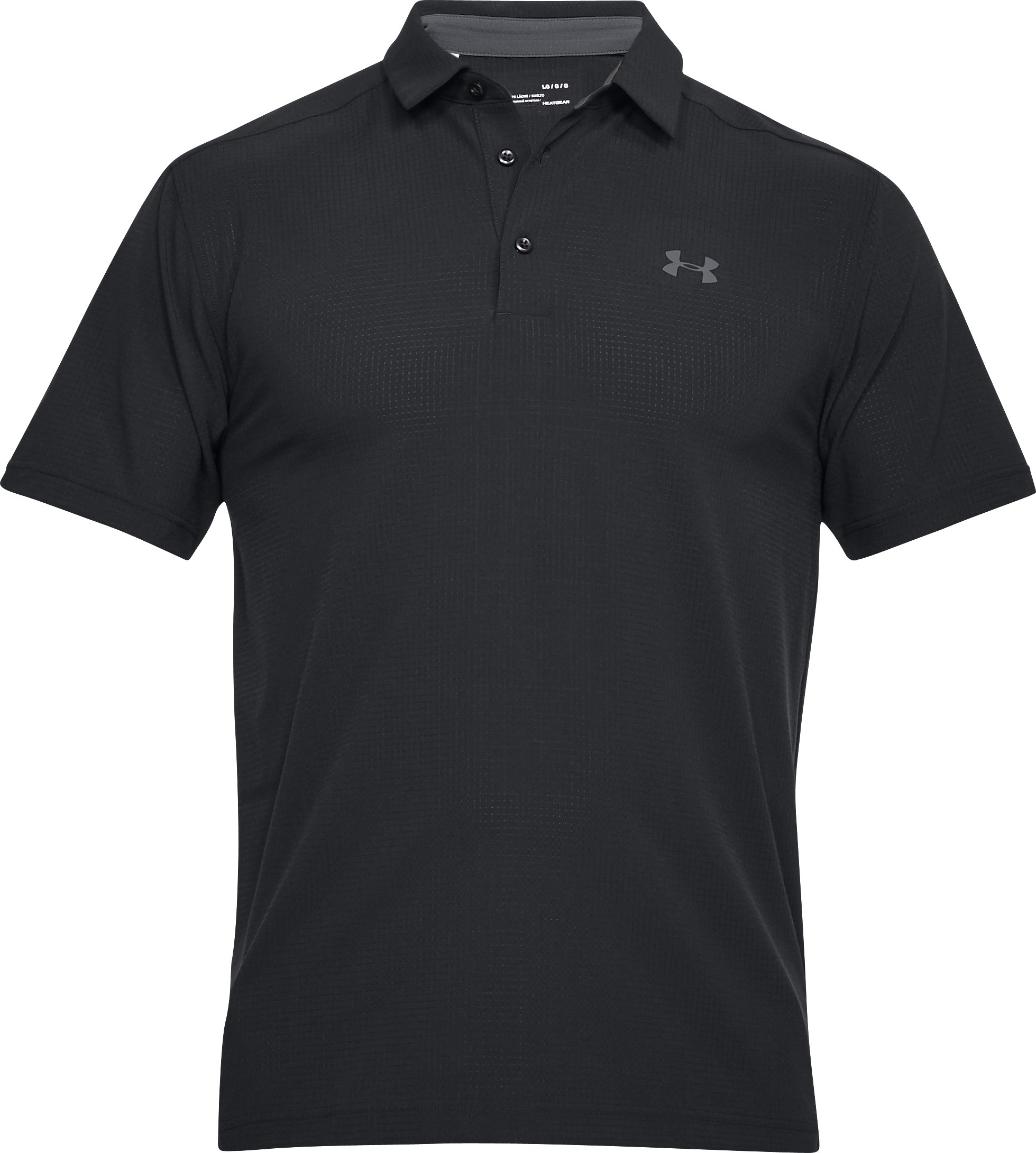 Men's UA Playoff Vented Woven Polo, Black ,