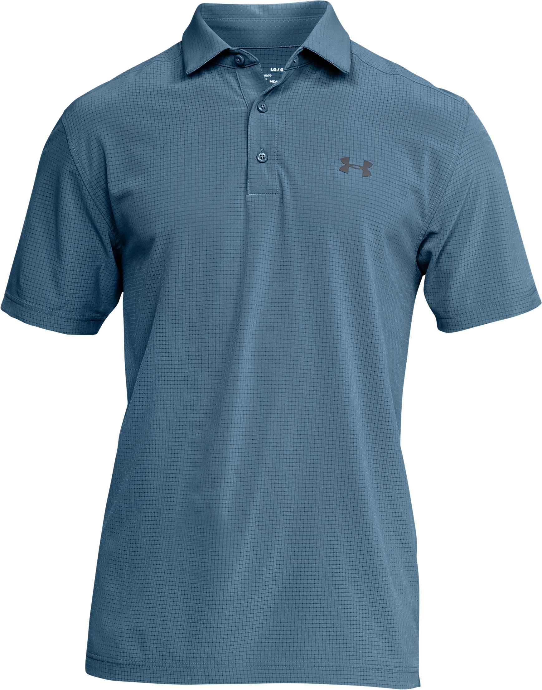 Men's UA Playoff Vented Woven Polo, BASS BLUE,