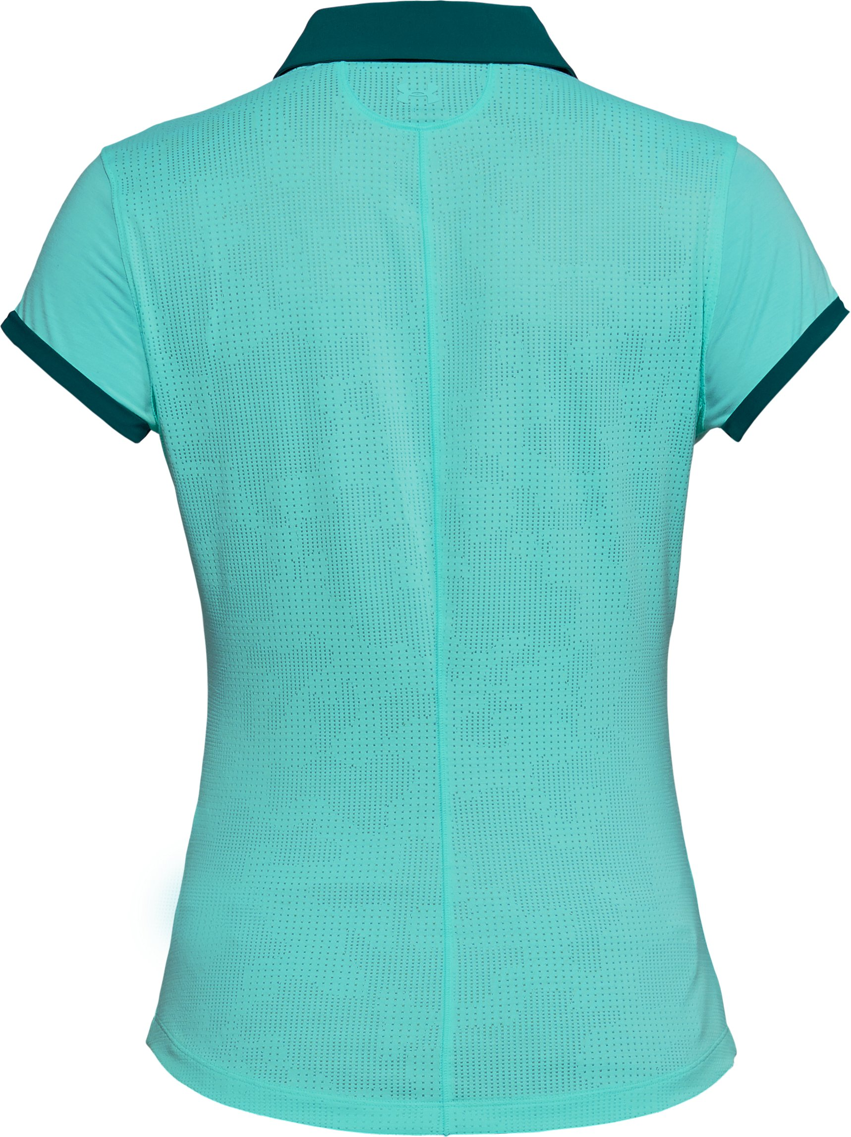 Women's UA Threadborne Jacquard Polo, TROPICAL TIDE,