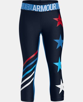 Girls' UA Americana Capris  1  Color Available $40