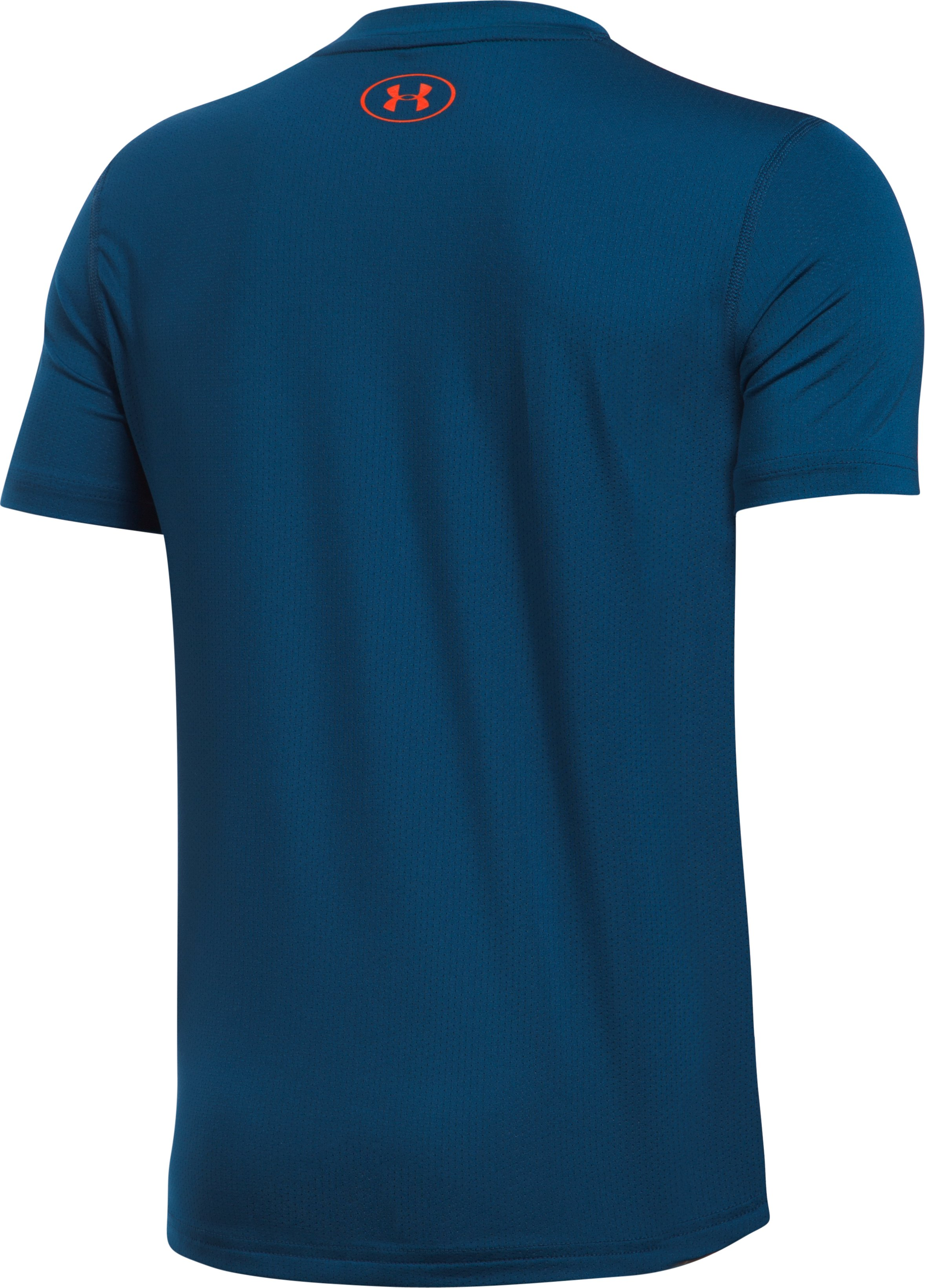 Boys' HeatGear® Training T-Shirt, BLACKOUT NAVY, undefined