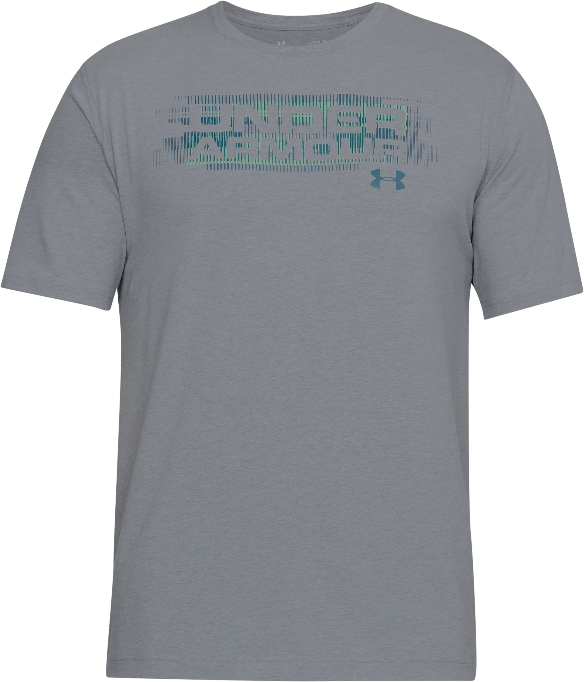 Men's UA Phase Wordmark T-Shirt, STEEL LIGHT HEATHER,
