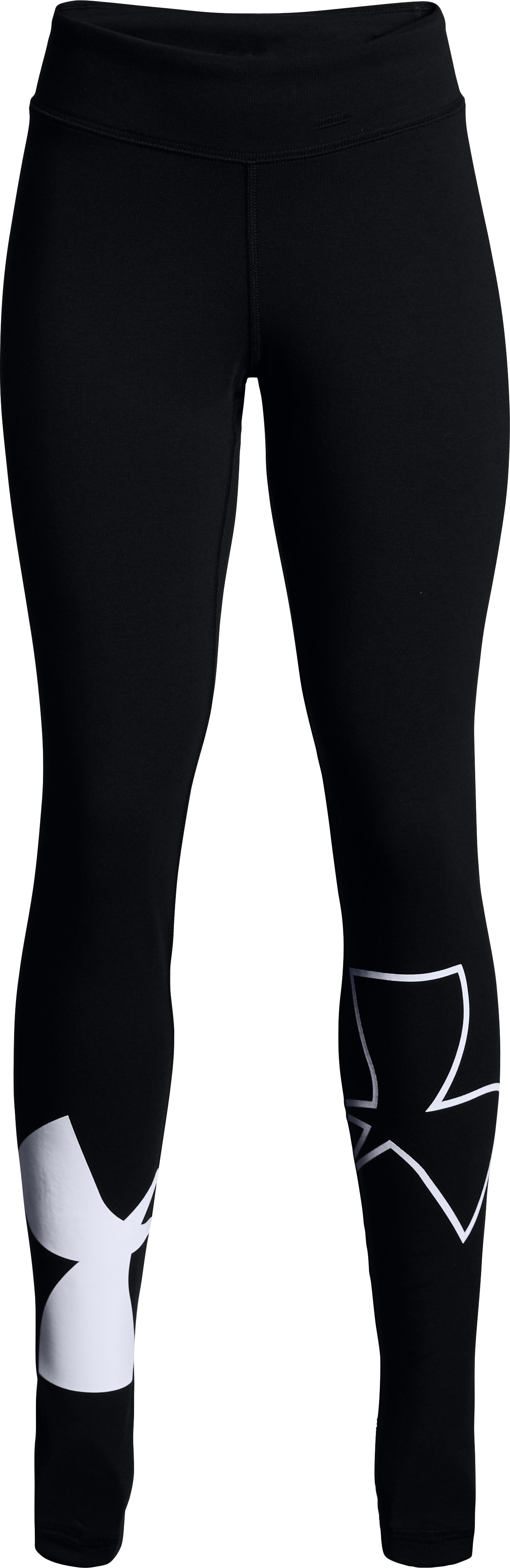 Girls' UA Favorite Knit Leggings, Black ,