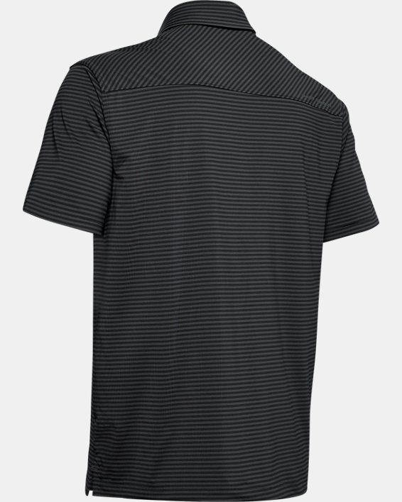 Men's UA Playoff Core Stripe Polo, Black, pdpMainDesktop image number 5
