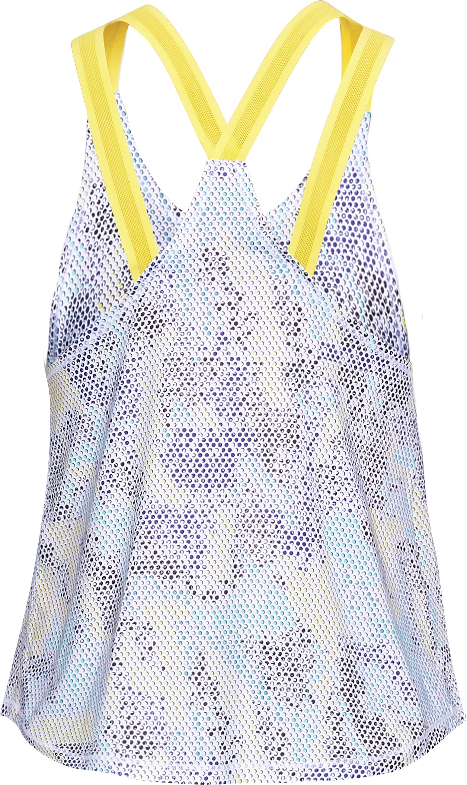 Women's UA Armour Sport Strappy Print Tank, White,