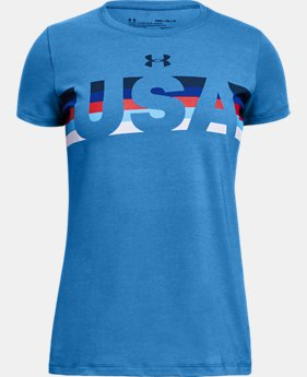 Girls' UA Americana USA T-Shirt  1  Color Available $20