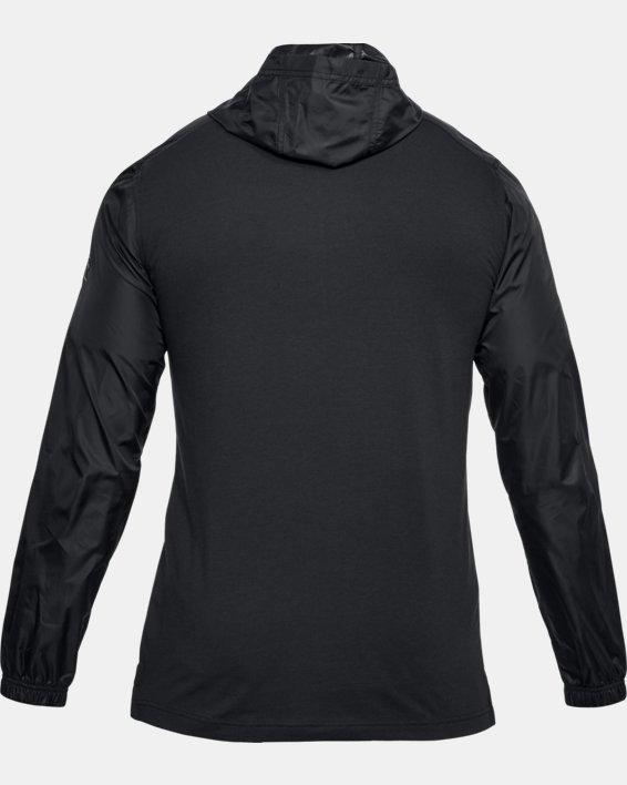 Men's UA Sportstyle Anorak, Black, pdpMainDesktop image number 4