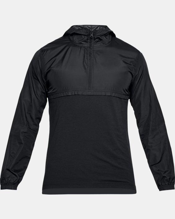 Men's UA Sportstyle Anorak, Black, pdpMainDesktop image number 3