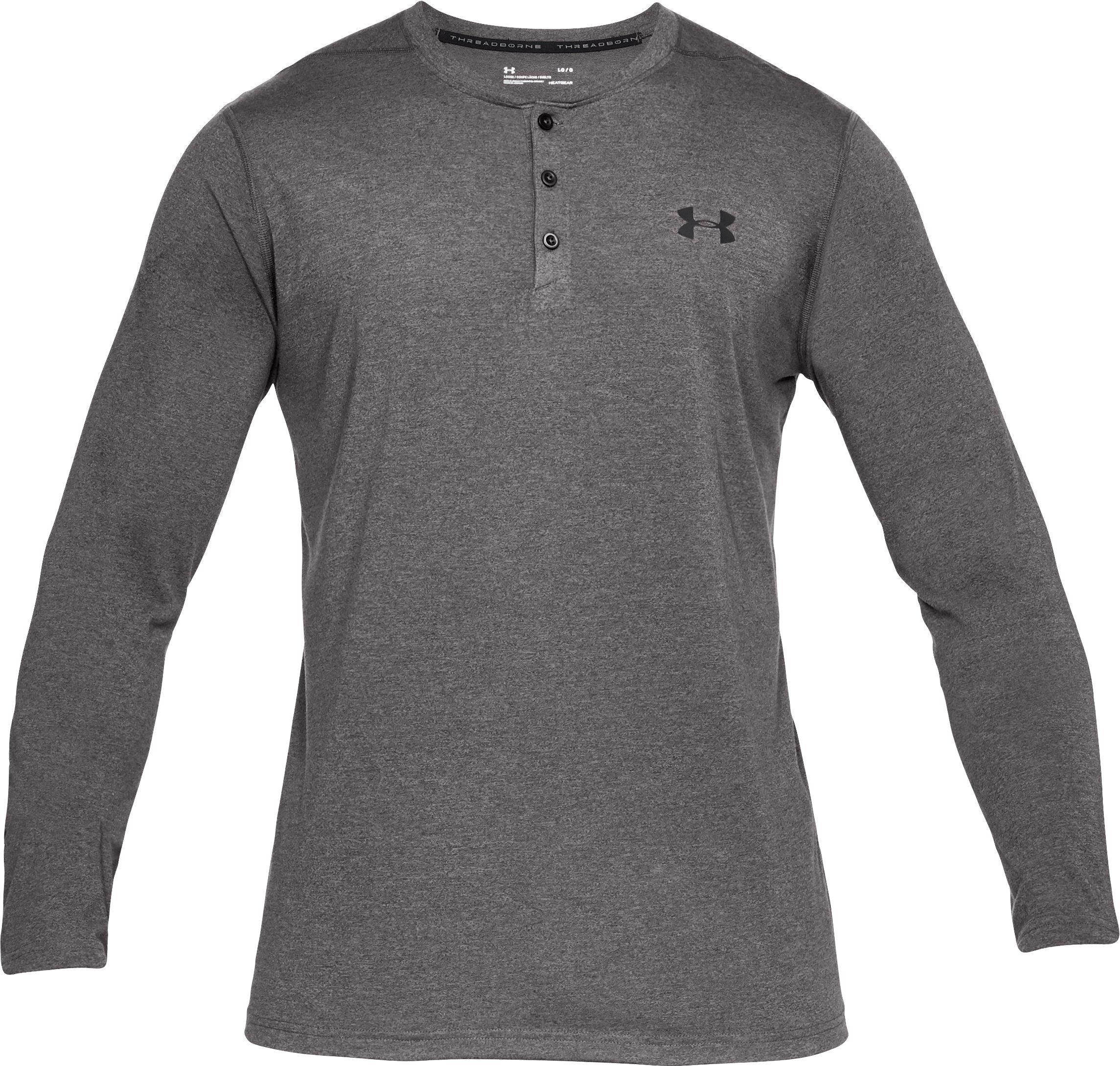 Men's UA Siro Henley, Charcoal,