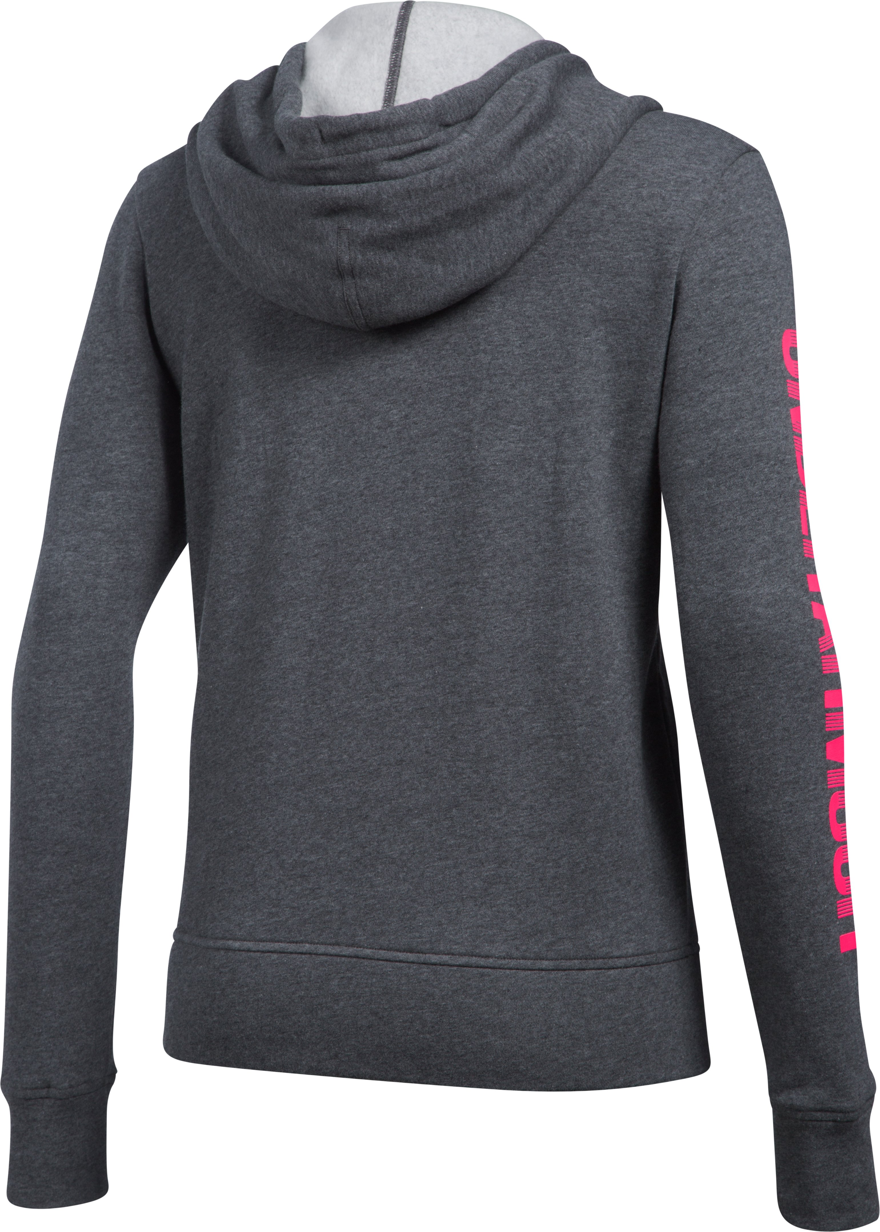 Women's UA Terry Full Zip Hoodie, Carbon Heather,
