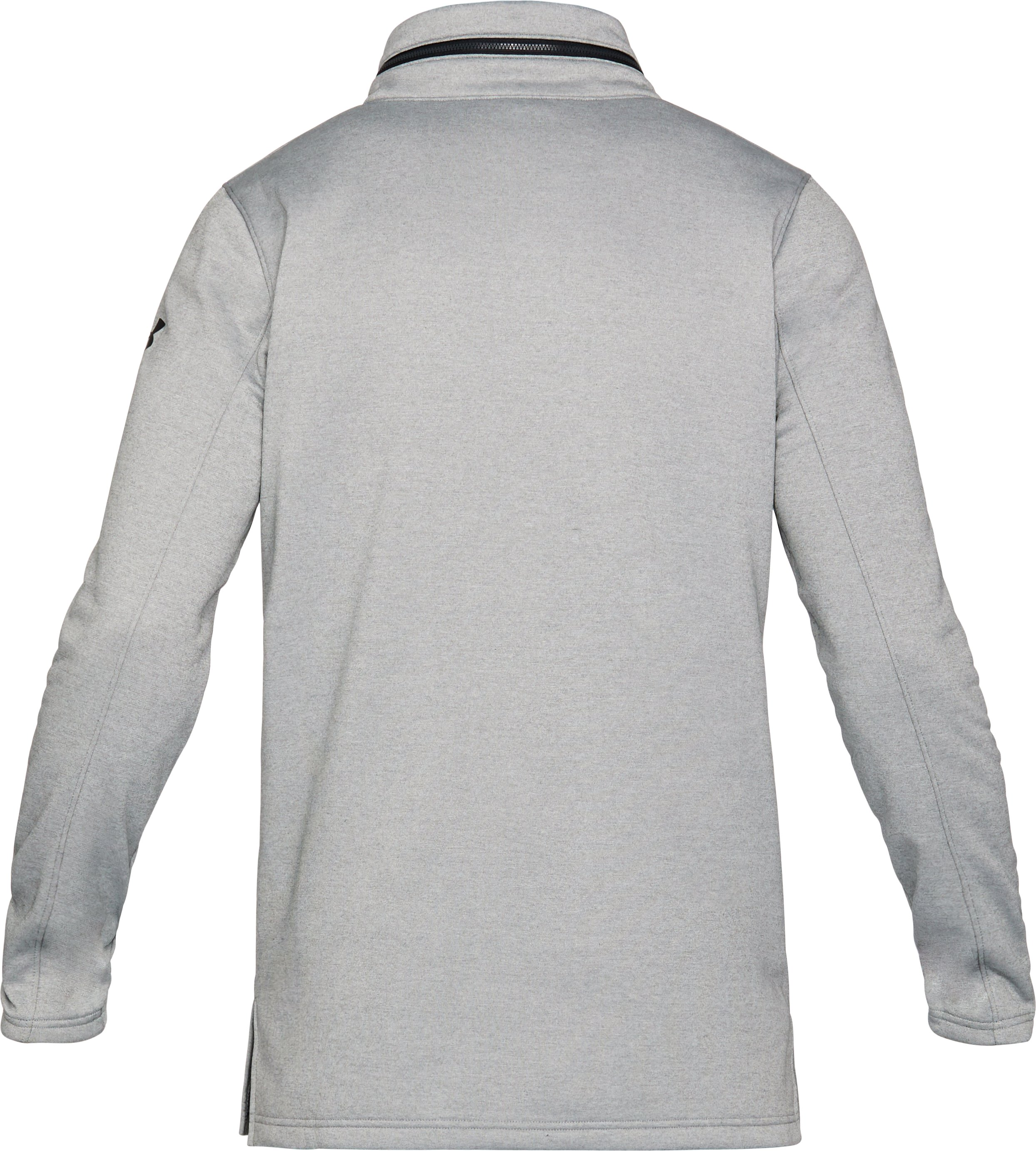 Men's UA Pursuit Hooded Funnel Neck ¼ Zip, True Gray Heather,