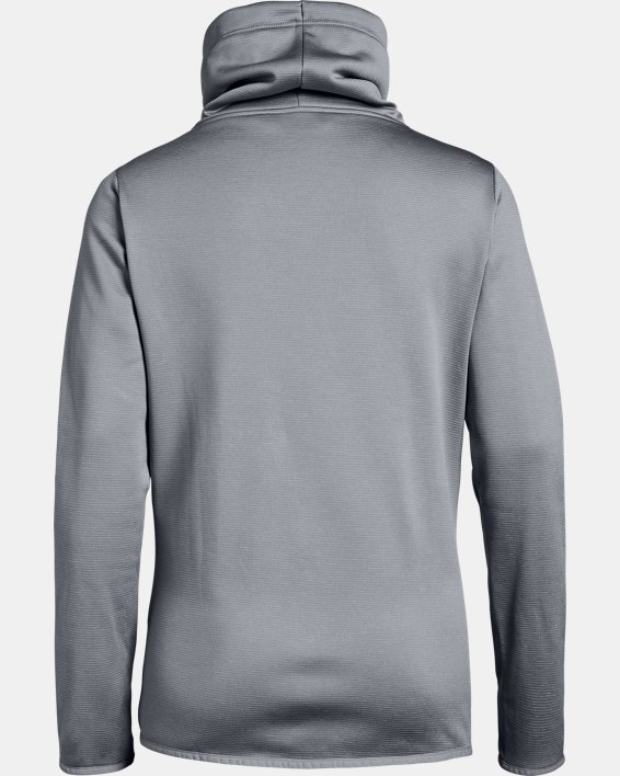 Women's Armour Fleece® Funnel Neck, Gray, pdpMainDesktop image number 4