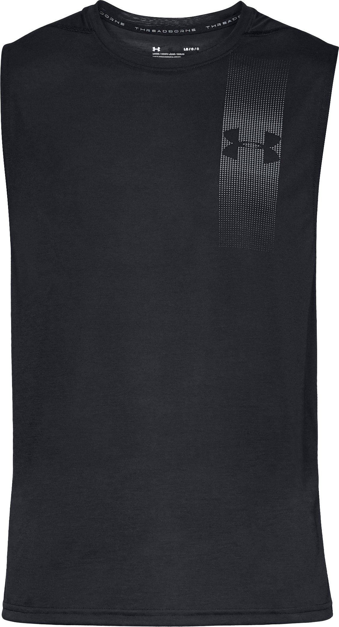 Men's UA Siro Muscle Tank Graphic, Black ,