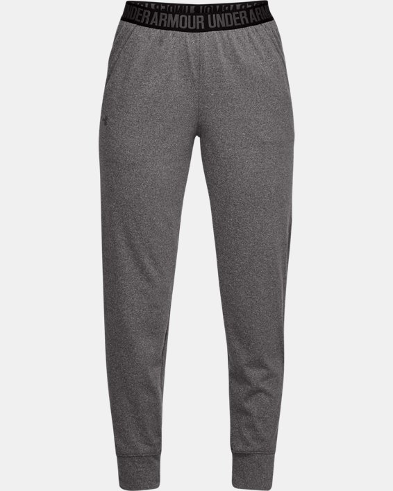 Women's UA Play Up Pants, Gray, pdpMainDesktop image number 3