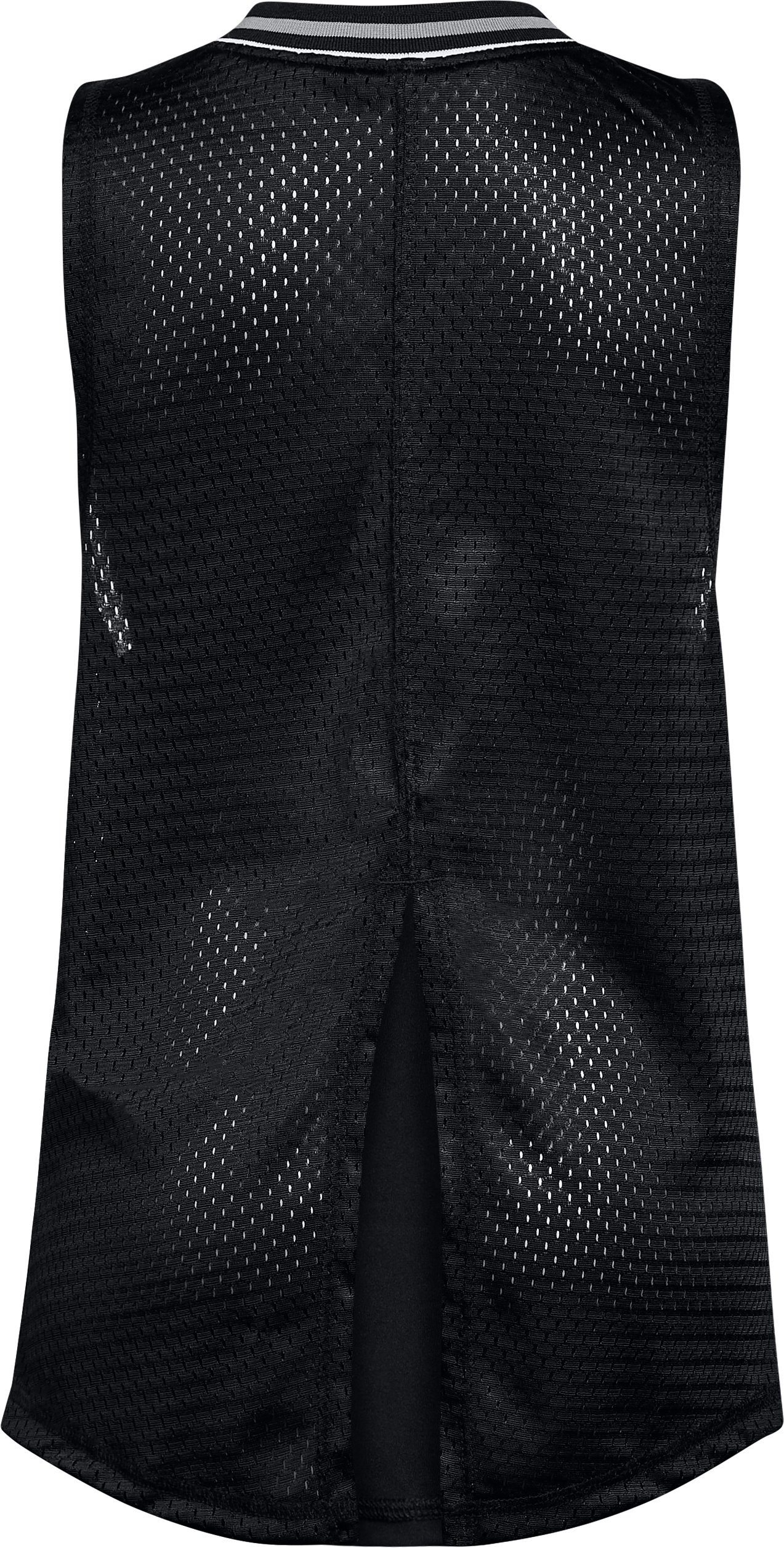 Girls' UA Varsity Mesh Tank, Black ,