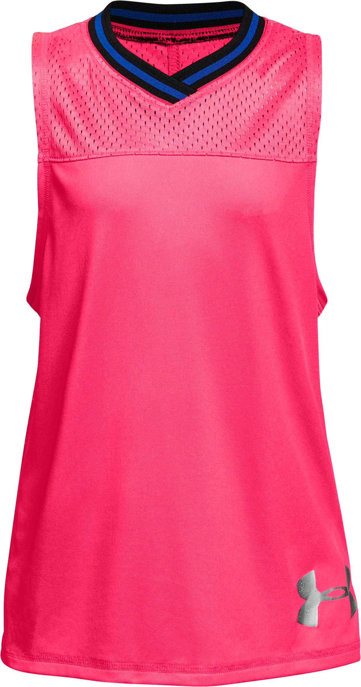 Girls' UA Varsity Mesh Tank 1 Color $15.00