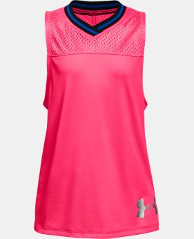 Girls' UA Varsity Mesh Tank LIMITED TIME: FREE SHIPPING 1  Color Available $30