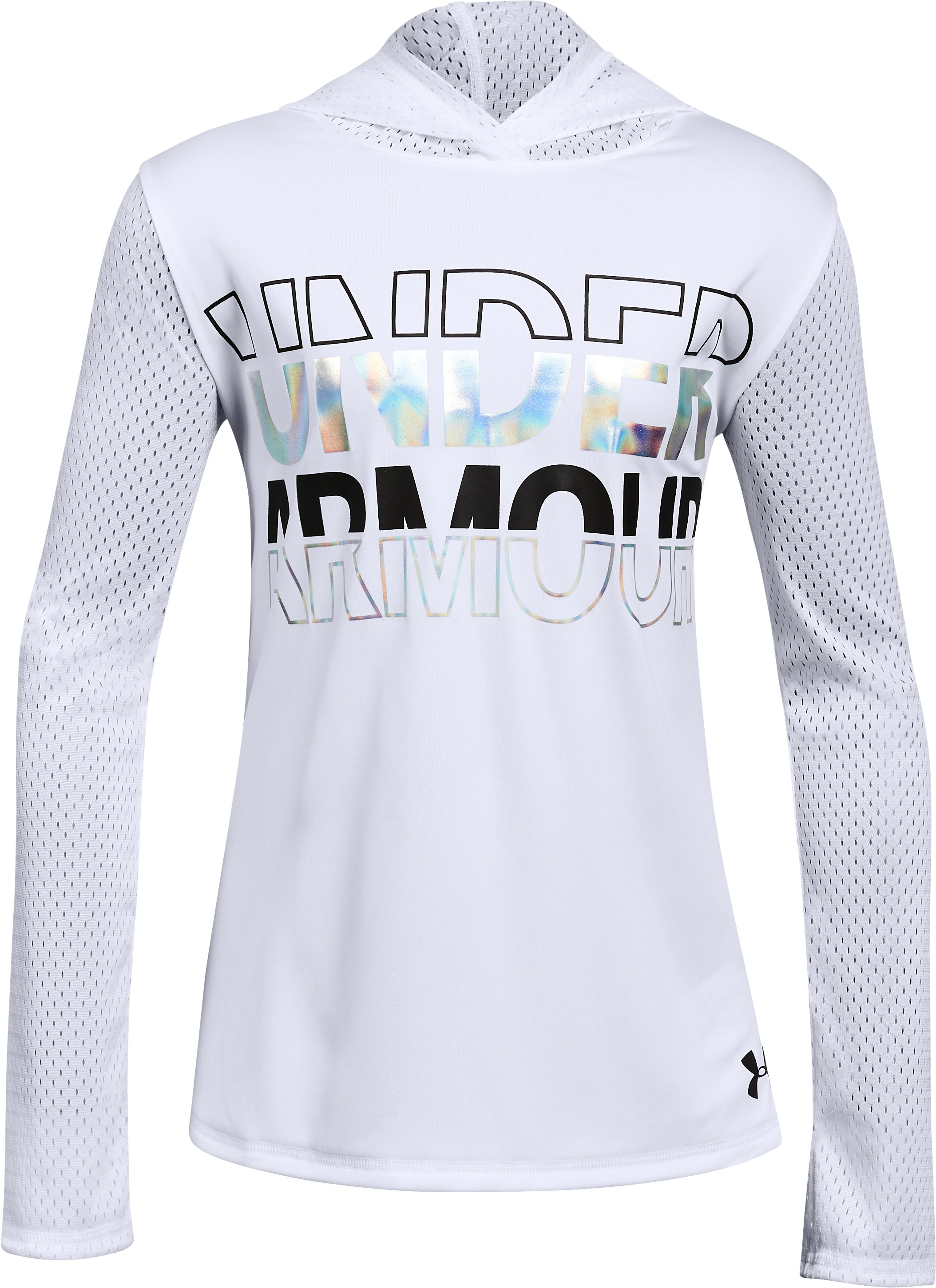 Girls UA Tech™ Varsity Hoodie, White