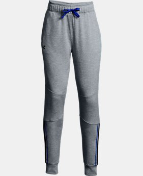 New to Outlet Girls' UA Teamwork Terry Joggers  2  Colors Available $22.5 to $27