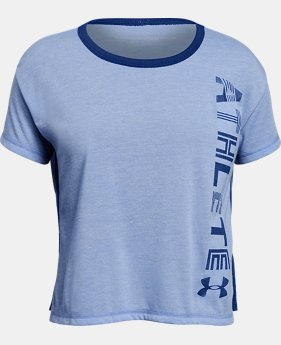 New Arrival Girls' UA Athlete T-Shirt   $28