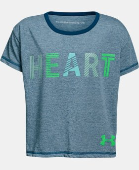 New Arrival Girls' UA Heart T-Shirt  1 Color $28