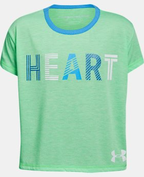 Girls' UA Heart T-Shirt FREE U.S. SHIPPING 3  Colors Available $28