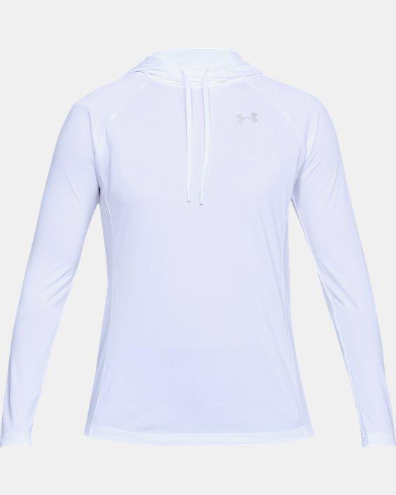 Women's UA Tech™ Hoodie, White, pdpMainDesktop image number 3