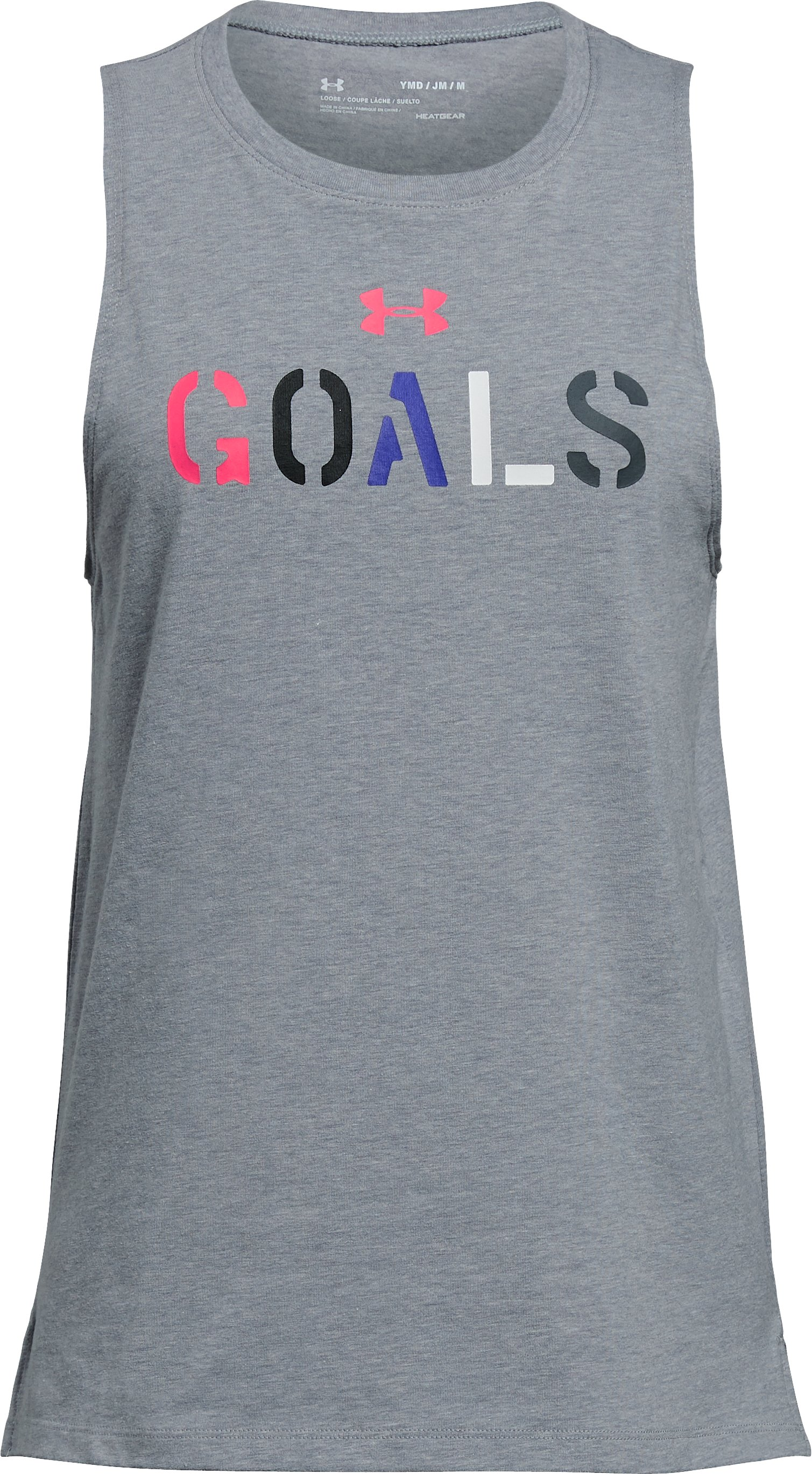 Girls' UA Goals Tank, STEEL LIGHT HEATHER, undefined