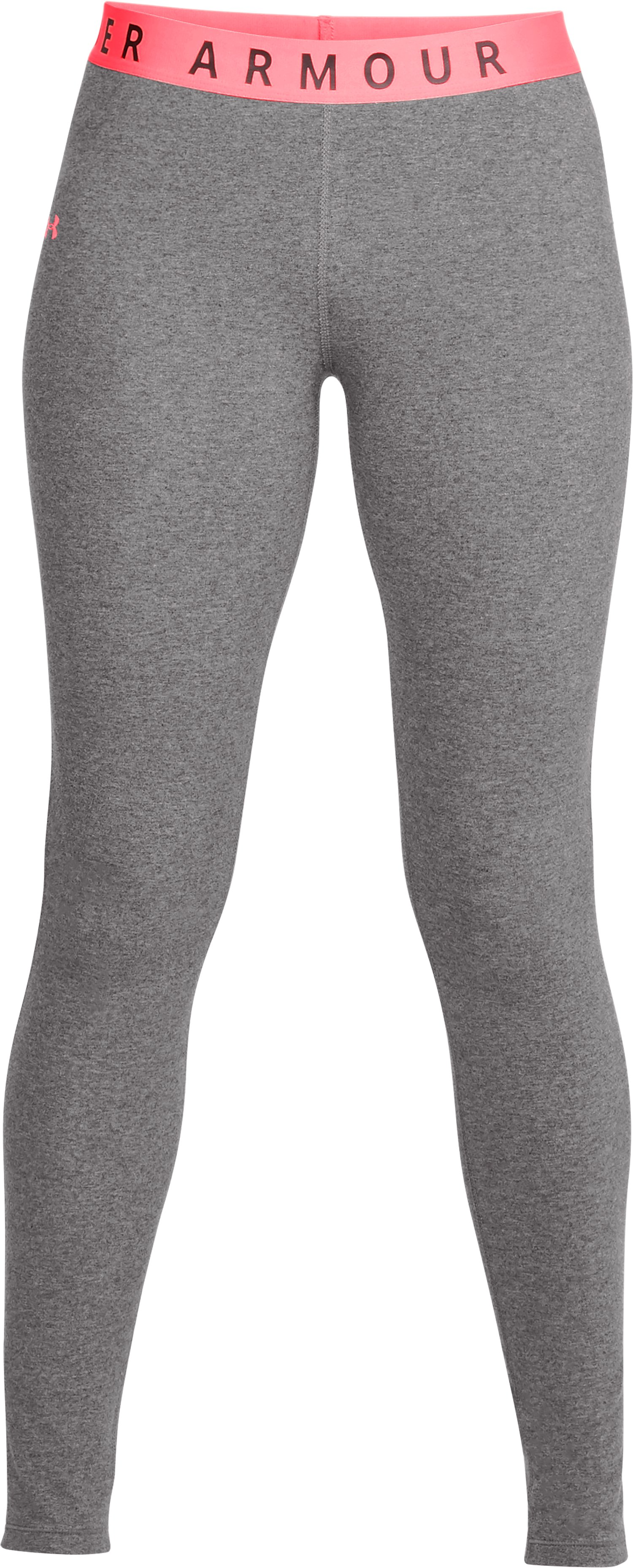 Women's UA Favorite Leggings, CHARCOAL LIGHT HEATHER, undefined