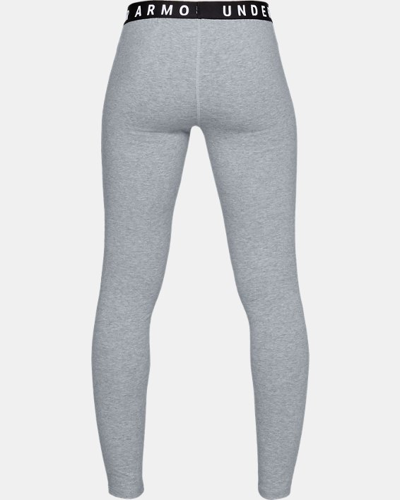 Women's UA Favorite Leggings, Gray, pdpMainDesktop image number 4