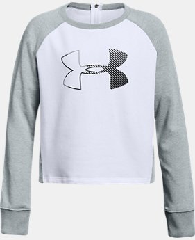Girls' UA Microthread Terry Crew  1  Color Available $50