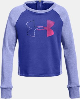 Girls' UA Microthread Terry Crew  2  Colors Available $40