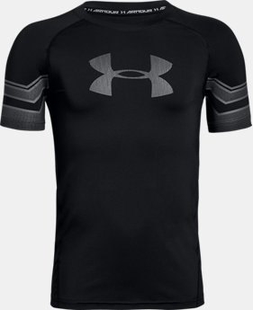 New Arrival Boys' HeatGear® Armour Graphic Short Sleeve  2 Colors $24.99