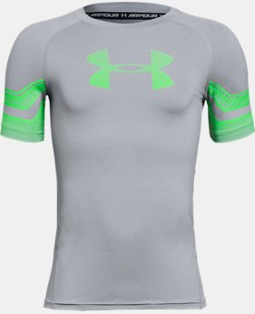 Boys' HeatGear® Armour Graphic Short Sleeve  3  Colors Available $18.74