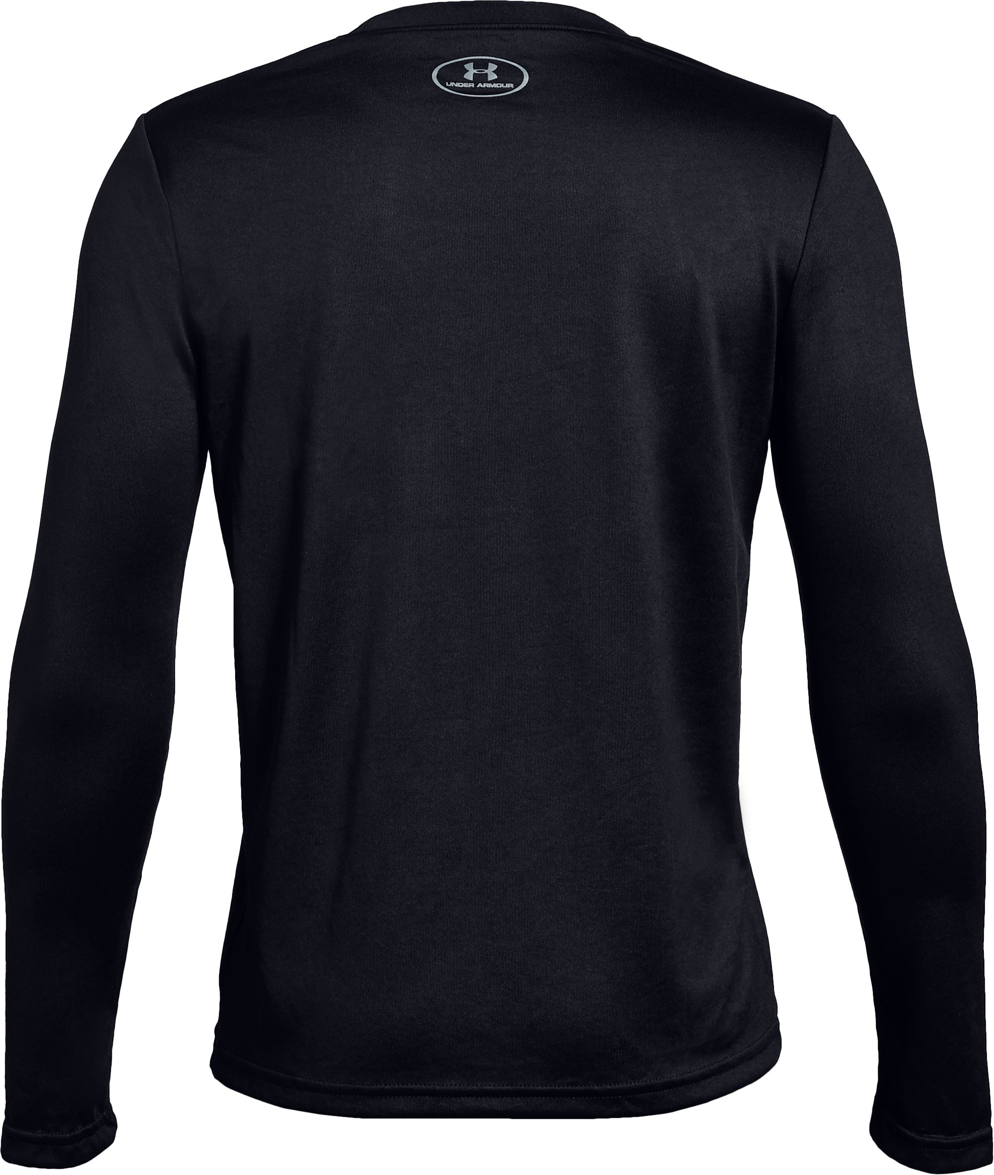 Boys' UA Tech™ Big Logo Long Sleeve, Black ,